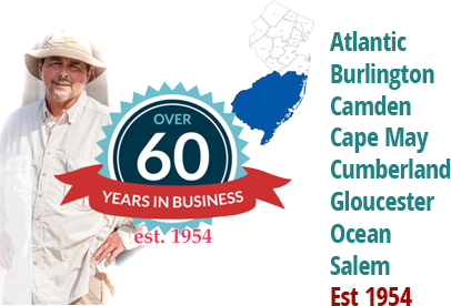60 Years In Business - Atlantic , Burlington , Camden,  Cape May , Cumberland , Gloucester,  Ocean , Salem, Est 1954